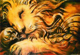 Le lion au crâne_1