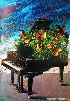 Piano aux fleurs